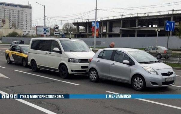 На Пасху в Минске таксист организовал тройное ДТП