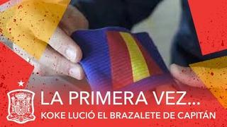 ¡Doble orgullo! Koke estrena capitanía y la felicitación de su ídolo Fernando Torres