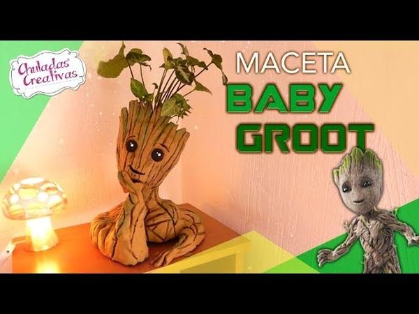 Baby Groot Maceta :: Guardianes de la Galaxia DIY Chuladas Creativas