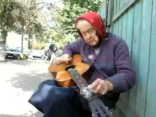Бабуля играет блюз