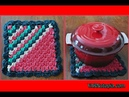 How to Crochet Tutorial: Corner to Corner (C2C) Holiday Hot Pad by YARNutopia