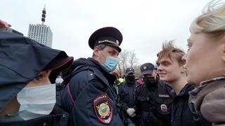 Вчерашняя несогласованная акция в Архангельске