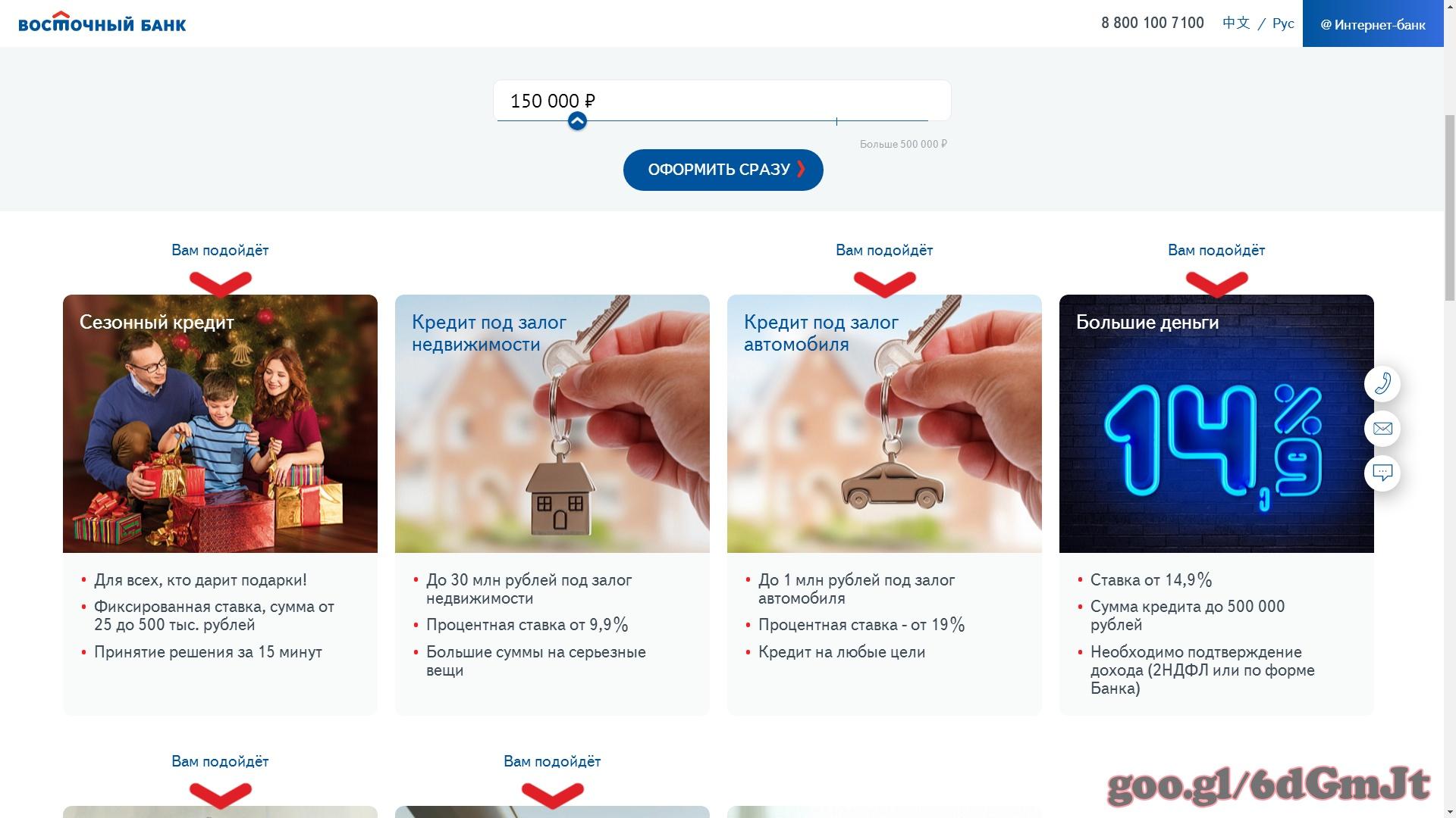 банк оформить кредит наличными онлайн