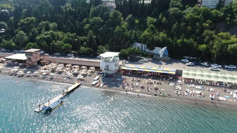 Пляжи Профессорского уголка г Алушта Республика Крым Июль 2019