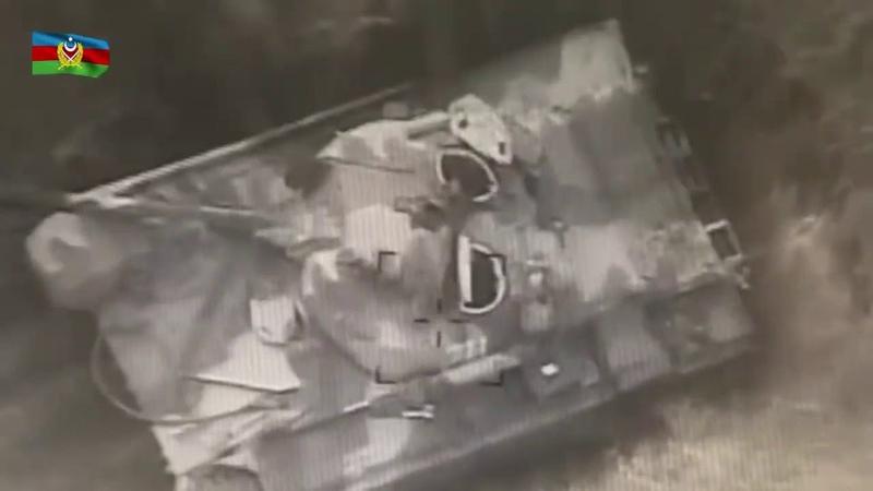 Война Карабах Азербайджанские беспилотники камикадзе уничтожают боевую технику противника