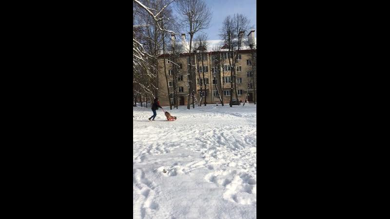 Зима снег горка 16 01 2021г г Волковыск Беларусь