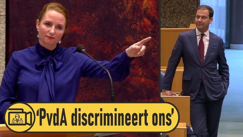(2) Fleur Agema woest PvdA stemde standaard tegen PVV! - YouTube