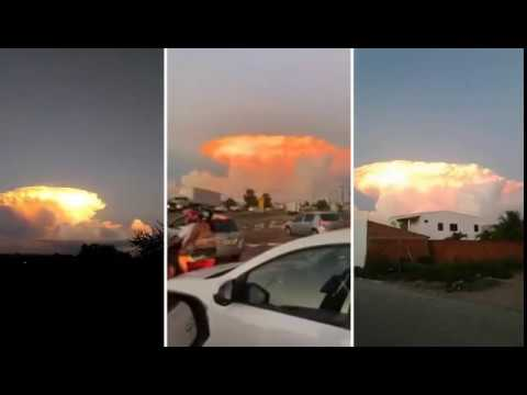 'Cloud of fire' is seen as a sign of the end of the world in Feira de Santana Bahia BRAZIL