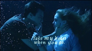 Take my heart when you go.