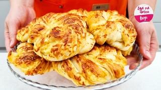 Готовлю ЕЕ без скалки, без яиц! Невероятно мягкие и слоистые, самые знаменитые турецкие булочки Ачма