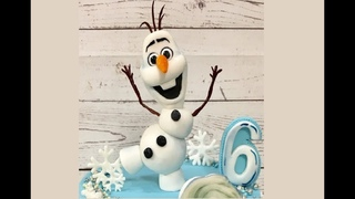 Олаф  из мастики / How to Make a Fondant Olaf from Disney's Frozen - Cake Decorating Tutorial