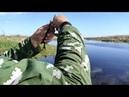 Испытание болотохода с гибким валом