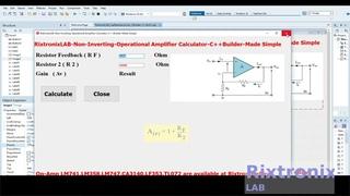 Creating Non Inverting Op Amp Calculator Easy C++Builder  Ep6