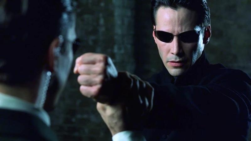 Neo vs Agents The Matrix Reloaded Open Matte
