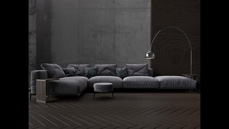 №3 Sofa modeling FLEXFORM ETTORE Autodesk 3ds Max Marvelous designer Render settings