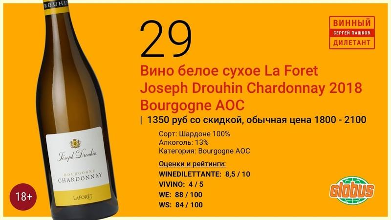 Вино белое La Foret Joseph Drouhin Chardonnay Bourgogne Как купить хорошее вино Винный дилетант
