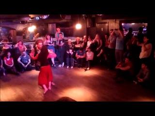Xandy Liberato & Evelyn Magyari, Zouk demo at Grace Bar, London 2013-10-21 [HD]