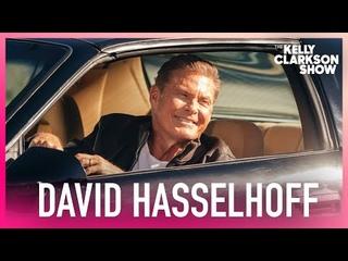 "David Hasselhoff Pulls Up In . Car From ""Knight Rider"""