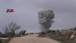 Syria - Regime and Russia bomb Turkish forces positions in the town of Ehsim, south of Idlib
